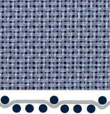 A white four-shed woven polyester pulp washing fabric in pattern-1