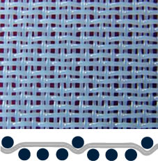 A white four-shed woven polyester pulp washing fabric in pattern-2