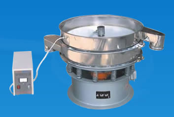 An industrial flour sifter with a small controller for sifting various grain flours.